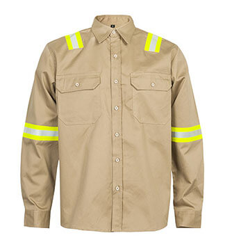 Hi Vis Blue Wear Rough Fireproof OEM Workwear Shirt
